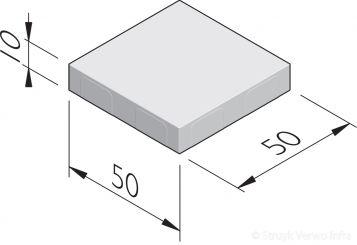 Betonstraatstenen 50x50