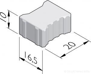 Waterpasserende H-profiel stenen 20x16,5