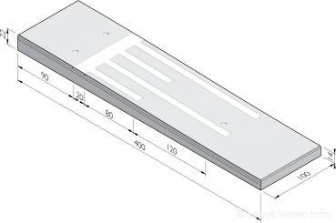 Verkeersdrempels 400 sinus 8 cm