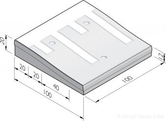 Plateaudrempels 100 sinus 8 cm