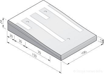 Plateaudrempels 150 sinus 12 cm