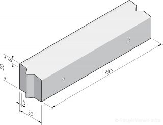 Rotonde-elementen 50x50 recht