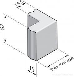 Bloembak hoekstukken 15x40