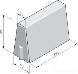 Bloembakbanden 20/40x70