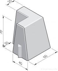Bloembak hoekstukken 20/40x70