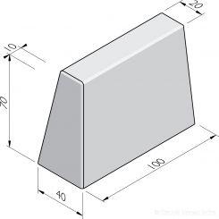Bloembak eindbanden 20/40x70