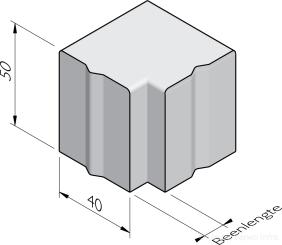 Bloembak hoekstukken 40x50