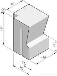 Grande bastion hoekstukken 40/32x70