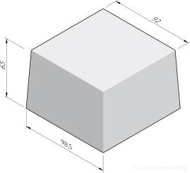 Siercarré vierkant 100