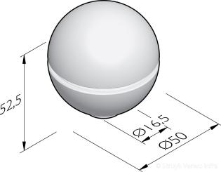 Sierbol Sphere 50 groef