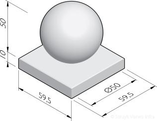 Sierbol Sphere 50 met voetplaat