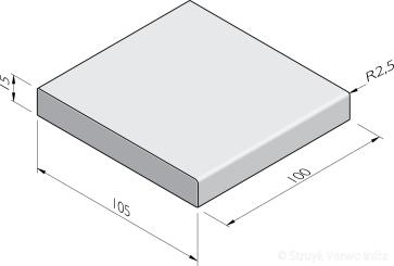 Traptreden 105x15 prefab