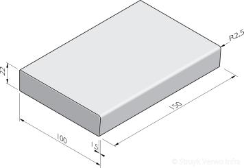 Traptreden 100x22 prefab