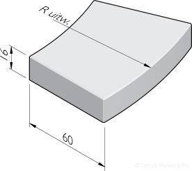 Bochttreden 60x16 repeteer