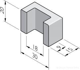 U-blokken 15x30x20
