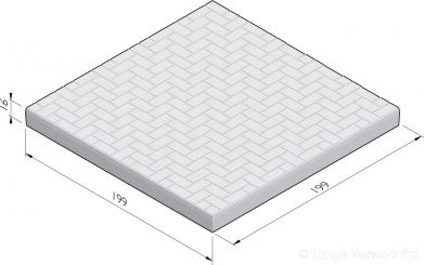 Vloerplaat steenmotief