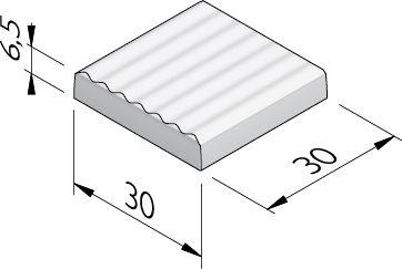 Geleidelijntegels 30x30 (7 golven)