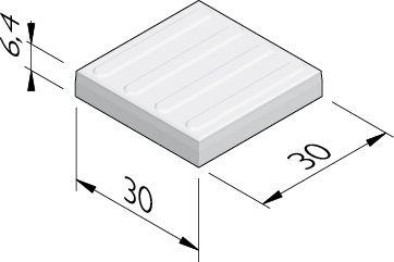 Geleidelijntegels (4 ribbels)