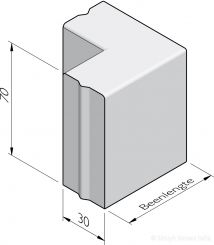 Bloembak hoekstukken 30x70
