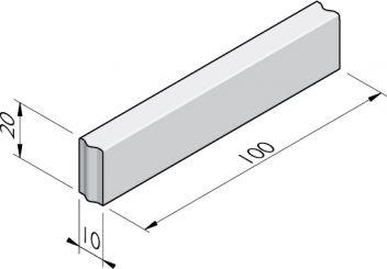 Opsluitbanden 10x20 vb