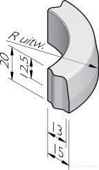 Trottoirbochtbanden 13/15x20 vb