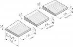 Plateaudrempels 100 sinus 8 cm met straatsteenmotief