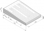 Plateaudrempels 150 sinus 12 cm met straatsteenmotief
