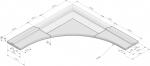 Hoekoplossing Opsluitplaat Infill Barrier R=3,50