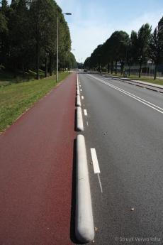 Rijstrookscheiding fietspad