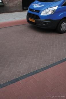 Perzisch tapijt in straatwerk