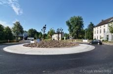 CROW rotonde met straatsteenmotief