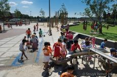 Spetteren op het schoolplein
